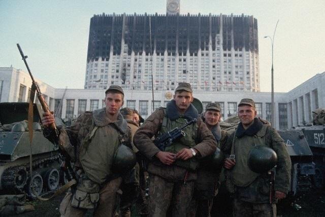 Список организаторов государственного переворота и бывших советских офицеров, изменивших воинской присяге в октябре 1993 года